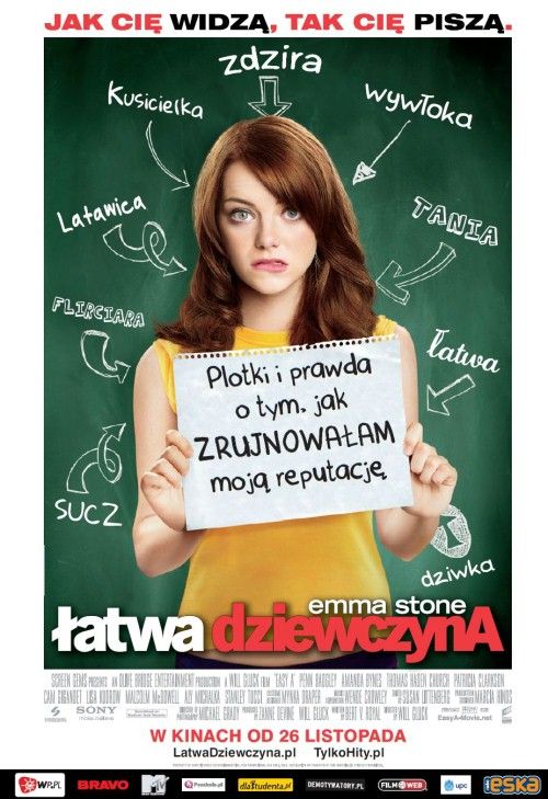 Łatwa dziewczyna / Easy A (2010) PL.BRRip.XviD-JB - Profesjonalny Lektor PL - Z DŹWIĘKIEM AC3 5.1